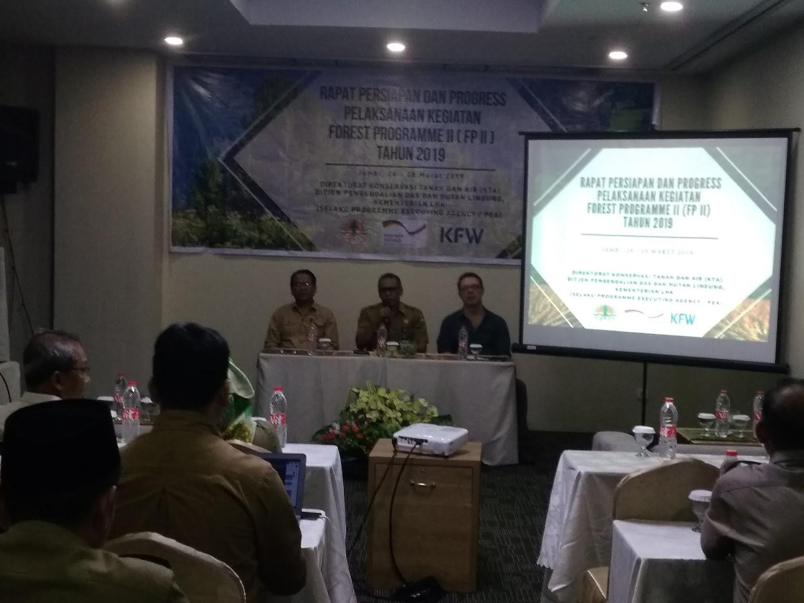 Kabid PPH Rapat Persiapan Dan Progress Pelaksanaan Kegiatan Forest Programme II