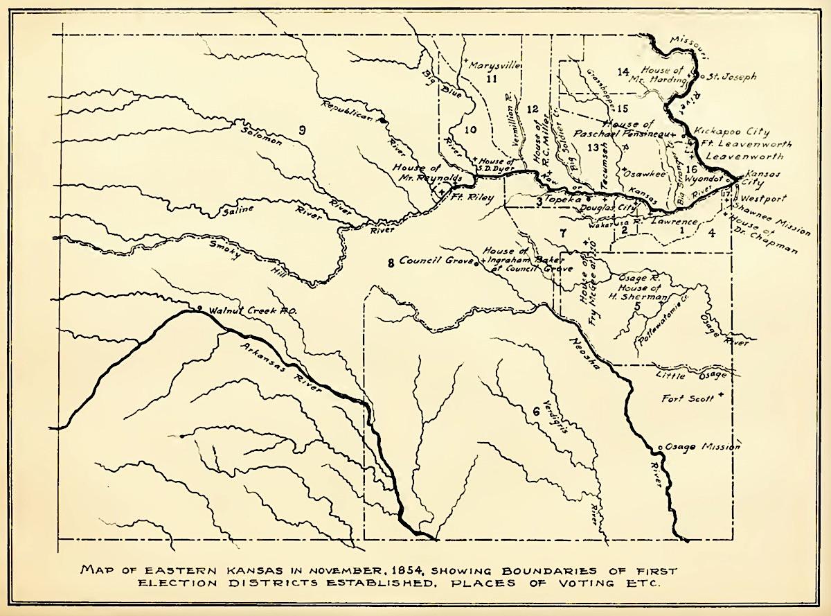 1854 map eastern kansas