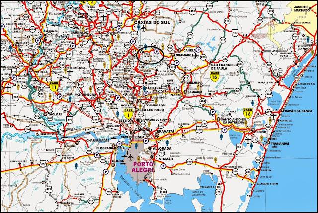 Mapa de localização de Nova Petrópolis – RS