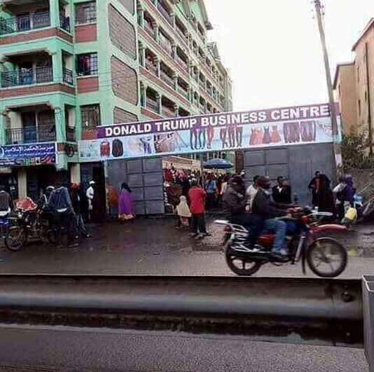 UNBELIEVABLE!!! SEE THE BUSINESS SIGN POST WITH DONALD TRUMP SIGHTED IN ONITSHA – (PHOTOS)