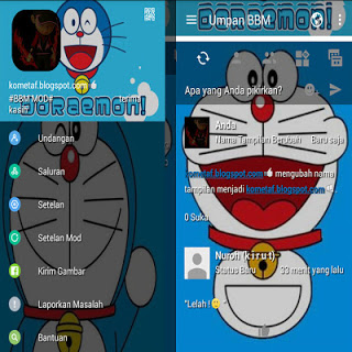 Download BBM MOD Doraemon Blue APK v3.0.1.25