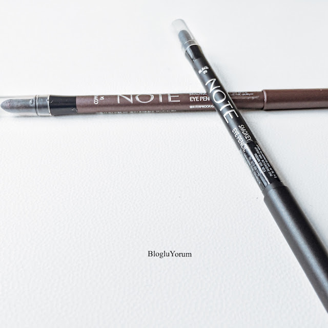 note smokey eye pencil 01 black 04 copper göz kalemi