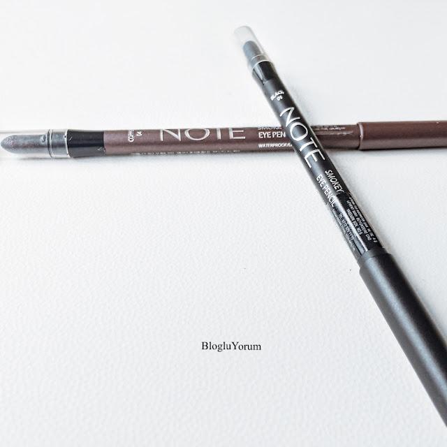 note smokey eye pencil 01 black 04 copper göz kalemi