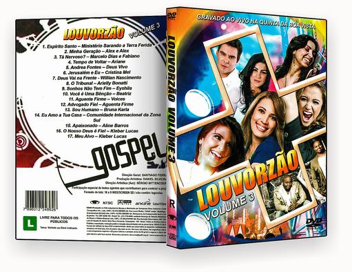CAPA DVD – Louvorzão Vol.3 Ao Vivo DVD-R