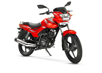 TVS Star City Plus Red front view