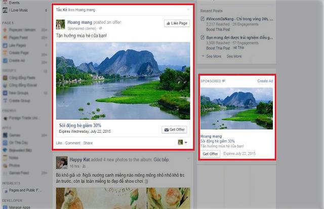 Hình thức quảng cáo Facebook Offer Claim