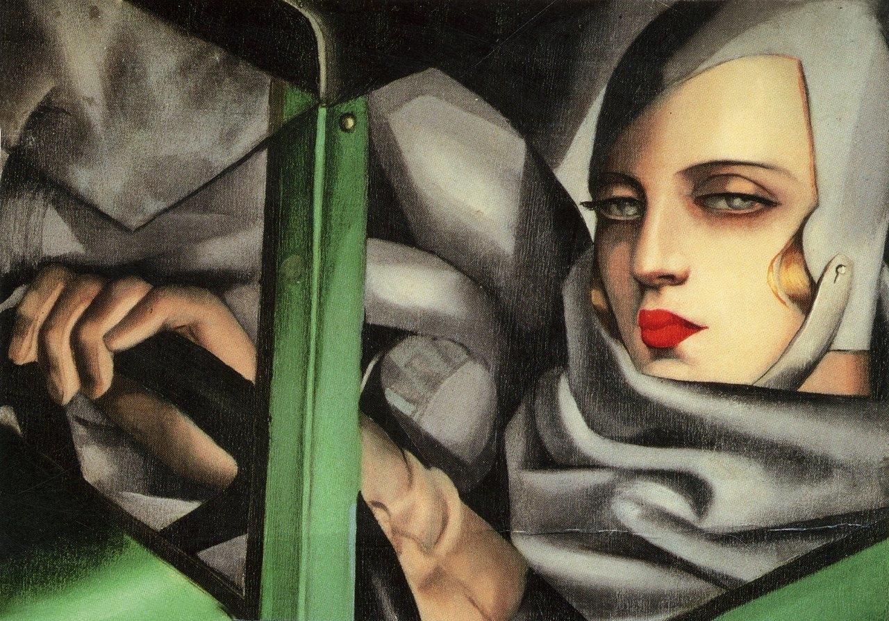 Tamara  de  Lempicka  Self  portrait  in  the  Green   ugatti