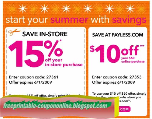 photo relating to Payless Coupons Printable referred to as Payless coupon codes in just retail outlet printable / Www.michaels crafts