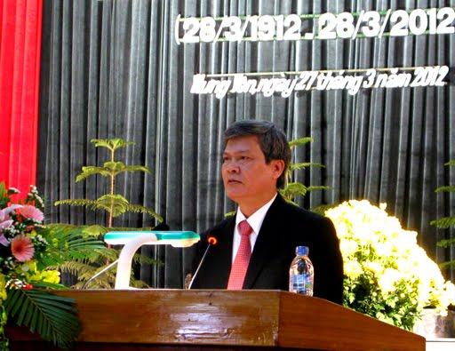 Đồng chí Nguyễn Văn Thông đọc diễn văn tại Lễ Kỷ niệm