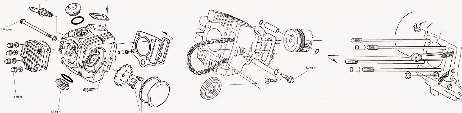 Servis Motor Honda : Cara Bongkar Mesin Honda 4 Tak
