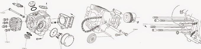 Servis Motor Honda : Tutorial Bongkar Mesin Honda 4 Tak