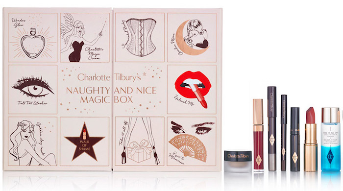 Contents of the Charlotte Tilbury Naughty and Nice Magic Box Advent Calendar for Holiday 2017://bit.ly/2zkOuGz
