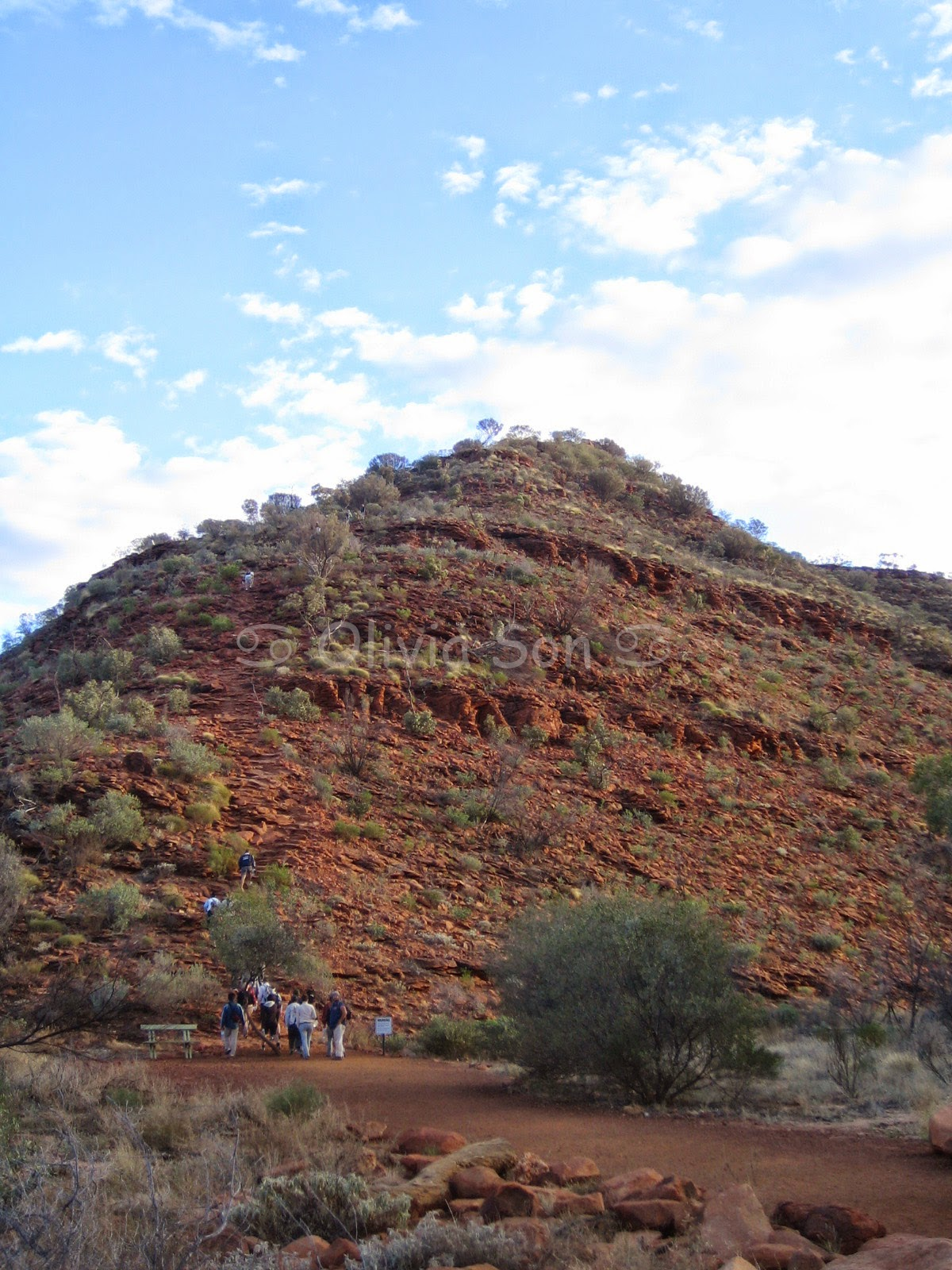Heart Attack Hill, Kings Canyon, Australie