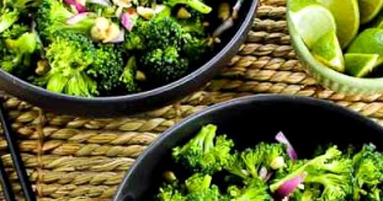... Easy Thai-Flavored Raw Broccoli Salad with Red Onion, Mint, and
