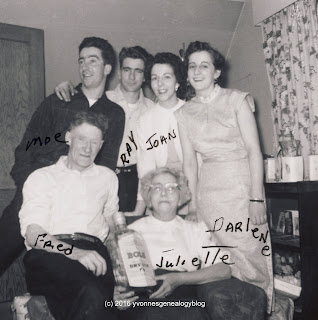 Darlene Belair with her parents and brothers and sister