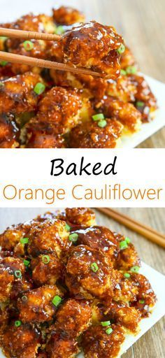 BAKED ORANGE CAULIFLOWER #Baked #Orange #cauliflower #Chicken #Dinner #Easydinner #Healthydinner #Simpledinner