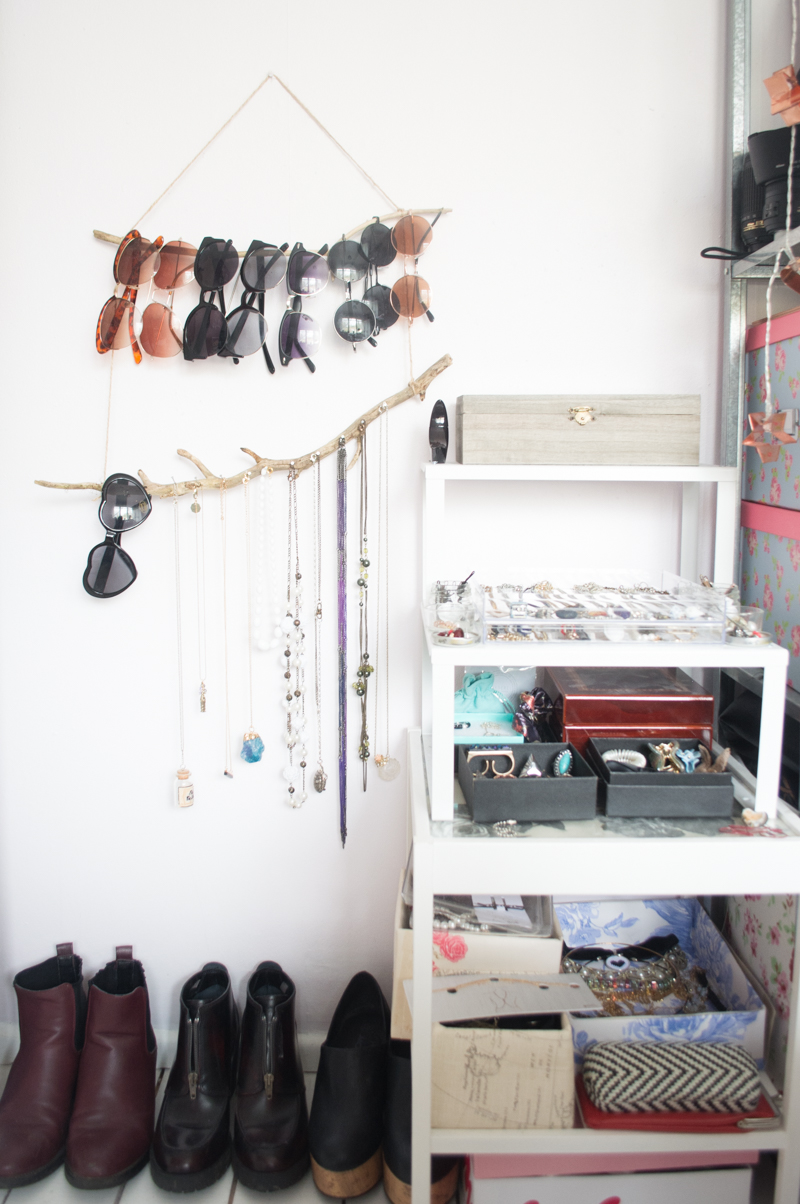 My Jewellery Storage and DIY Branch Holder