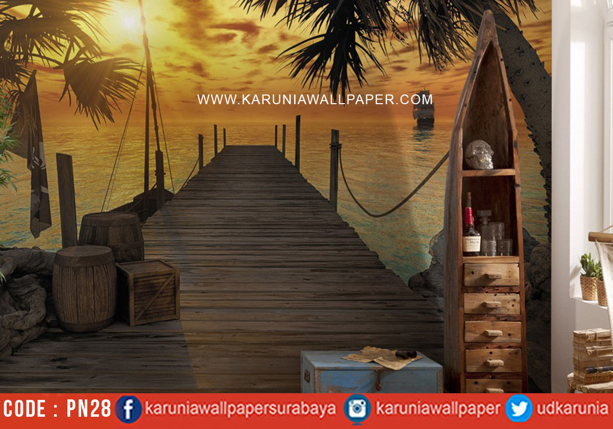 jual wallpaper photowall motif pantai
