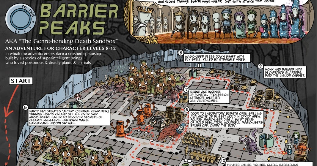 Tenkar's Tavern: Expedition to the Barrier Peaks - Cartoon