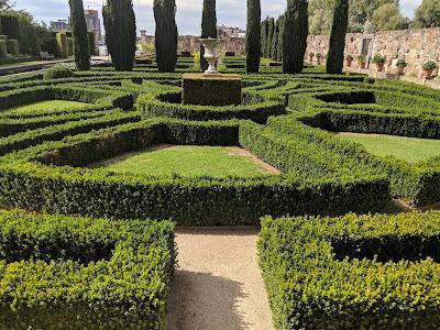 Villa Augustus formal garden.