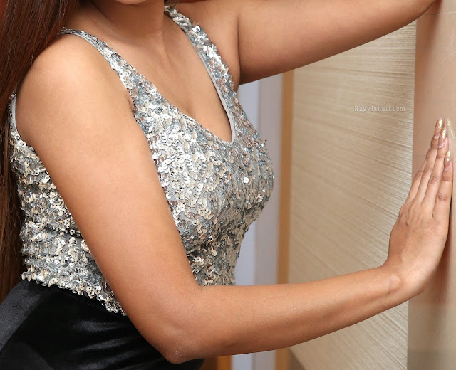 Sharon Fernandes cleavage nude milky white boobs in low neck blouse