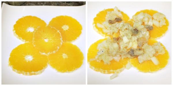 Elaboración de ensalada de naranja y bacalao