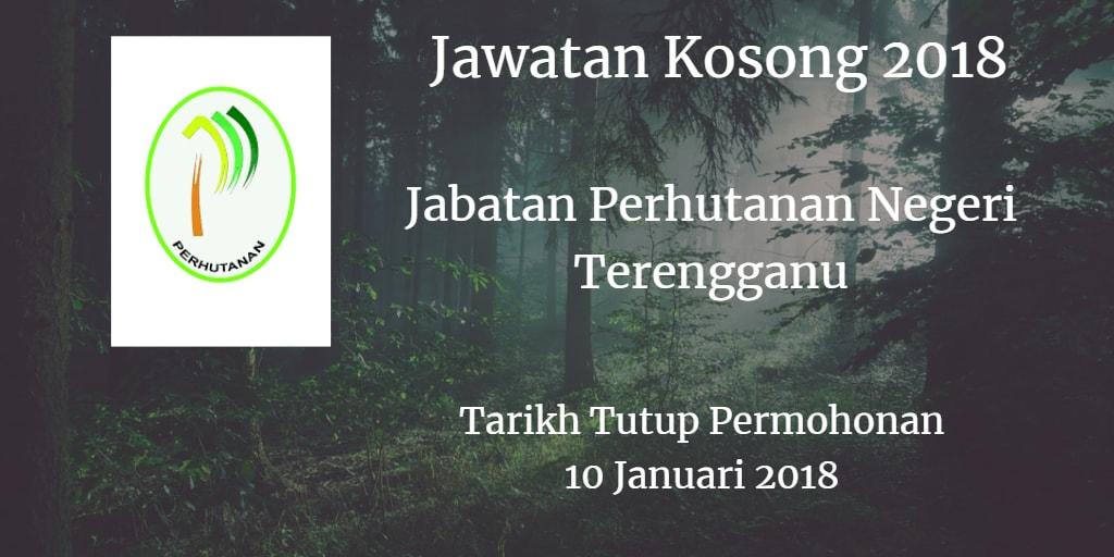 Jawatan Kosong Jabatan Perhutanan Negeri Terengganu 10 Januari 2018