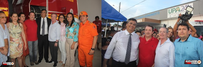 UPA e Corpo de Bombeiros são inaugurados por Levi Pontes, Magnos Bacelar e Governador Flavio Dino, no aniversário de Chapadinha.