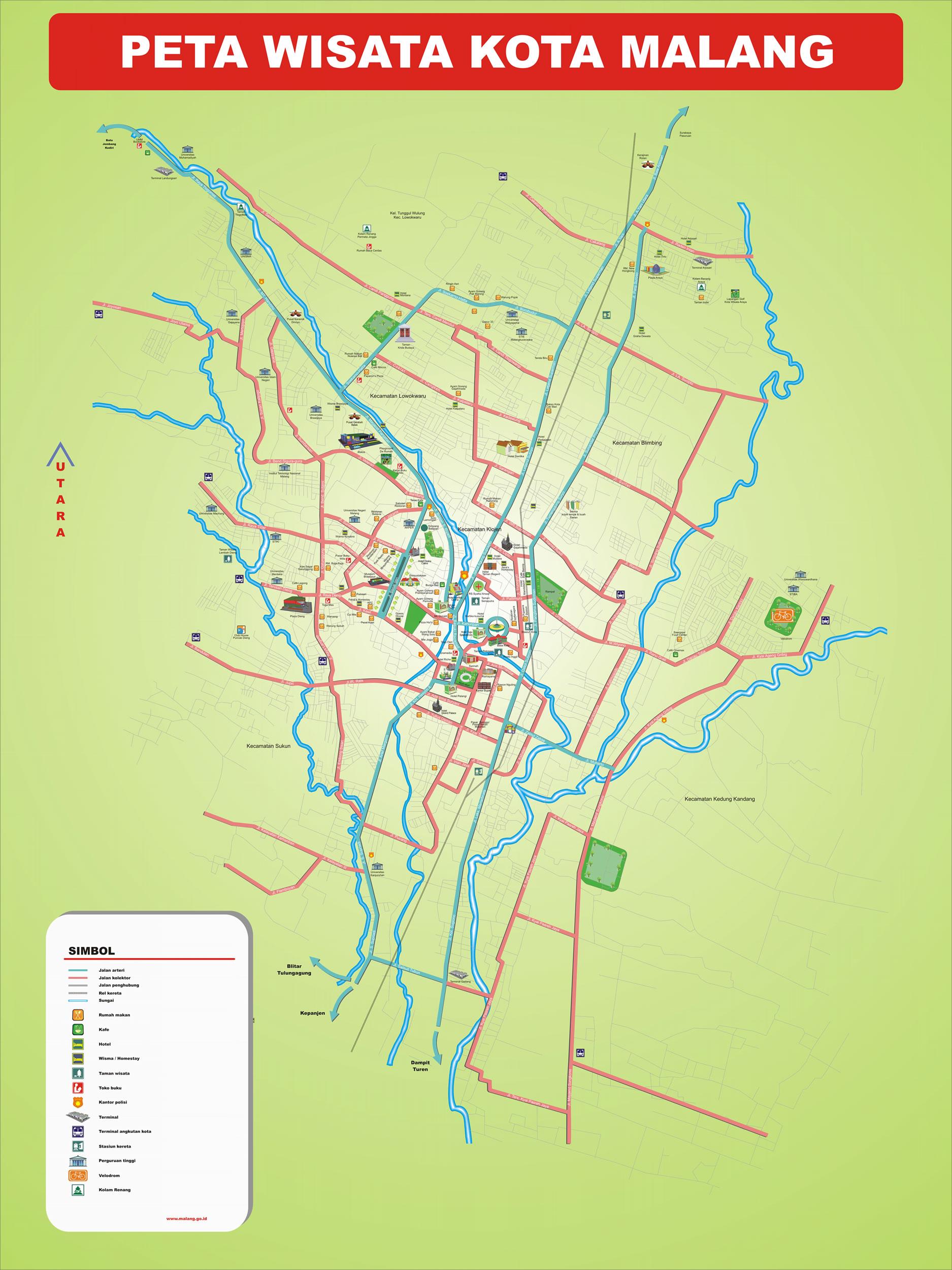 Peta Kota: Peta Kota Malang