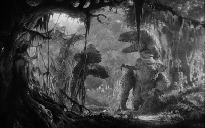 Image result for images of 1933 king kong fighting the tyrannosaurus