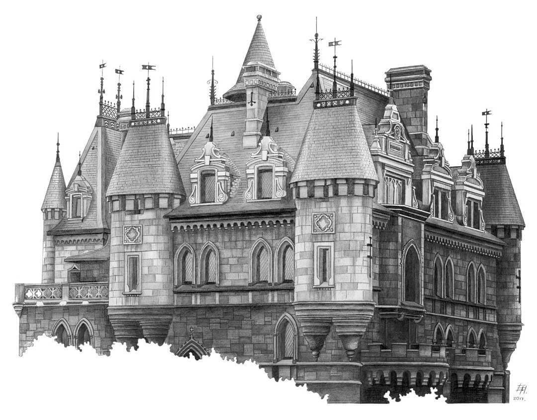07-Castle-Elizabeth-Detailed-Pencil-Architectural-Drawings-www-designstack-co
