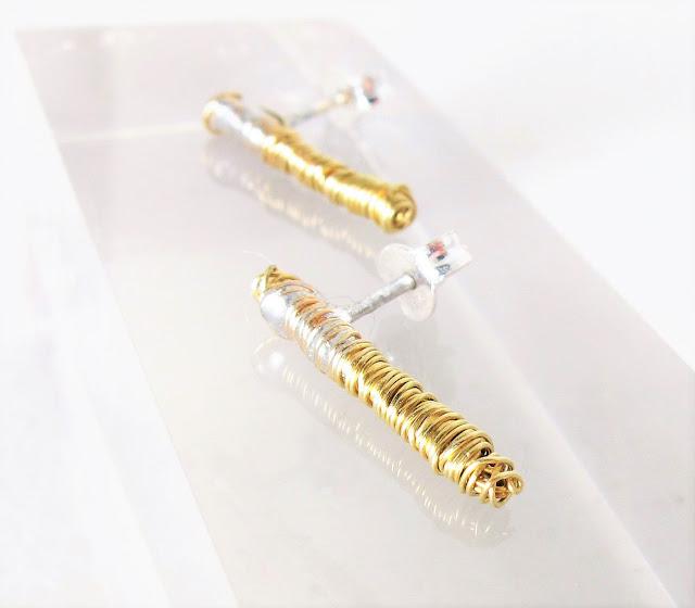Ancient Greek inspired jewelry, modern earrings