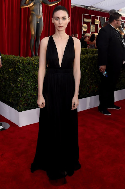 WHO WORE WHAT?.....2016 SAG Awards Red Carpet: Rooney Mara in Valentino