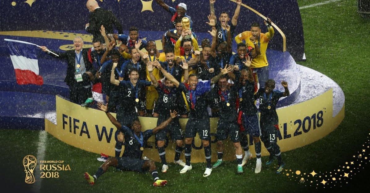 La Francia è Campione del Mondo 2018.