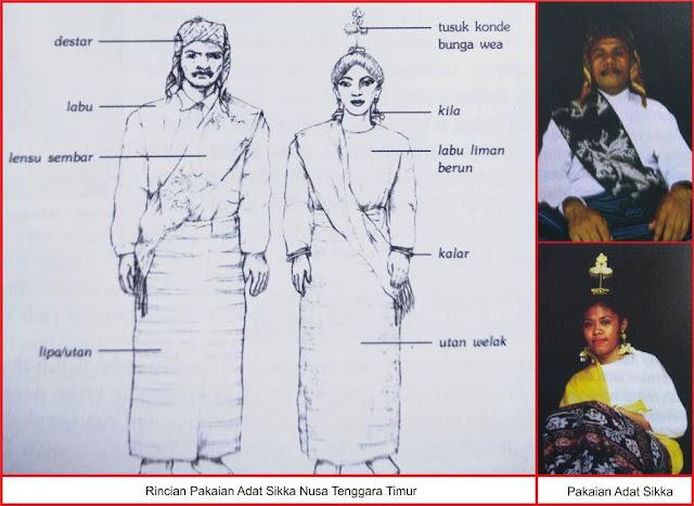baju adat suku sikka Nusa Tenggara Timur