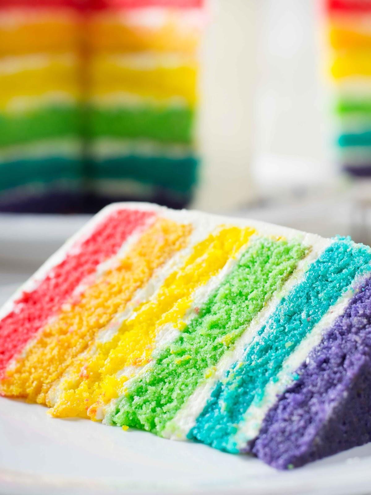 Цветные коржи рецепт с фото