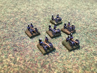 British attached artillery tokens for use in Blucher