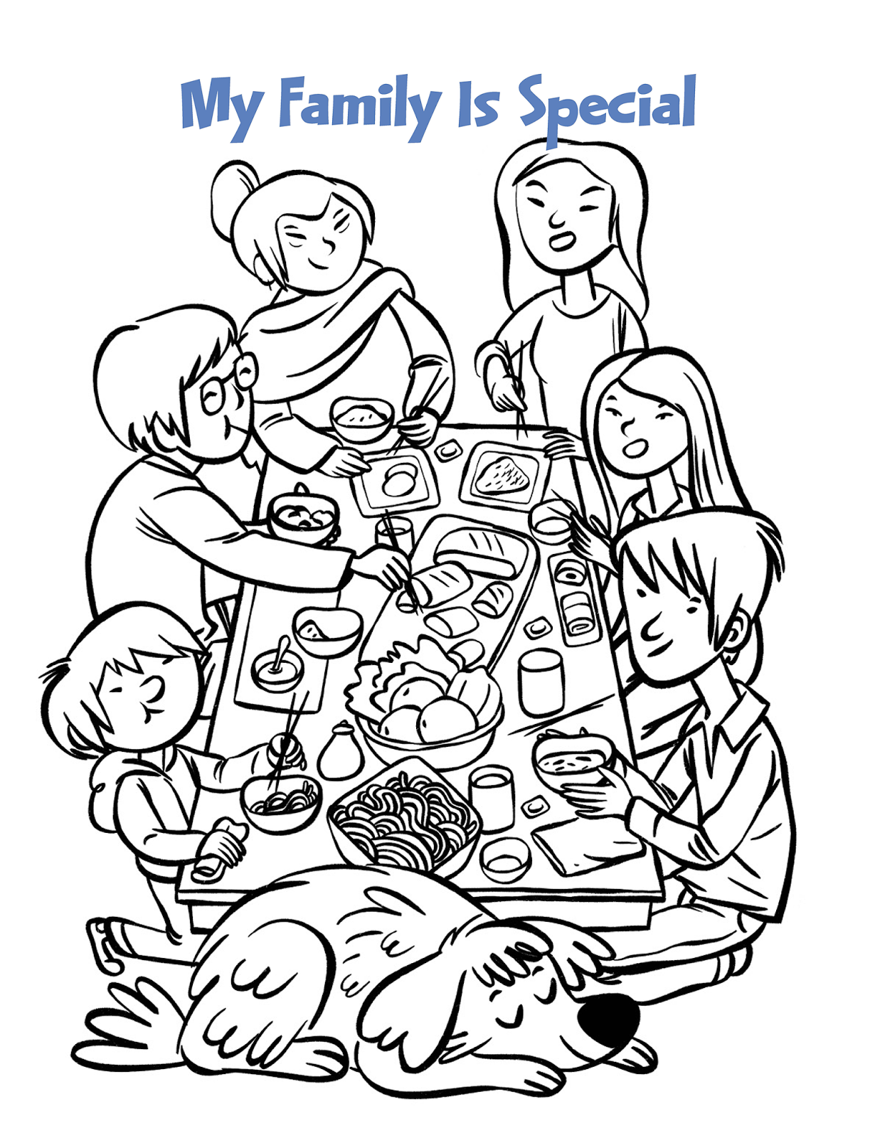 Gambar Mewarnai Makan Bersama Keluarga Tercinta Lihat Gambar Mewarnai Makan Bersama Keluarga Tercinta Mewarnai 4 Sehat 5 Sempurna