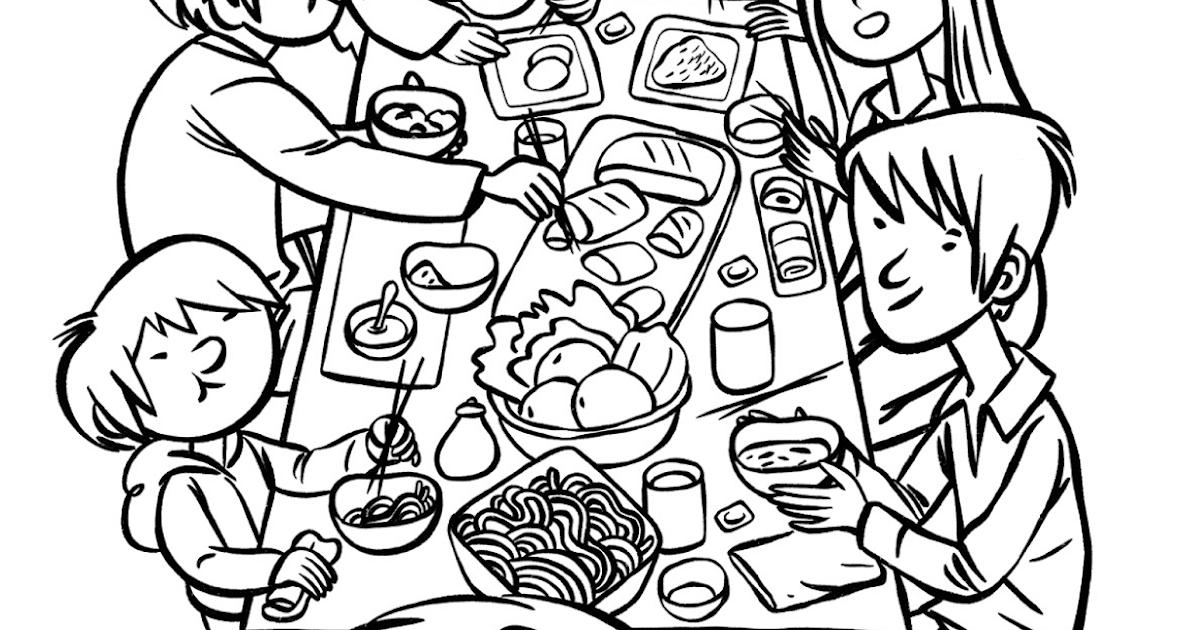 Gambar Mewarnai Keluarga Muslim Makan Bersama Mewarnai Cerita Terbaru Lucu Sedih Humor Kocak Romantis