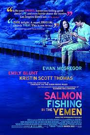 Salmon Fishing in the Yemen poster for the movie starring Ewan McGregor and Emily Blunt