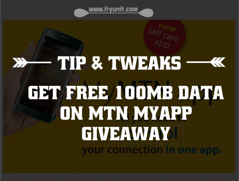 Get and Accumulate Free Data on MTN myApp 100MB giveaway