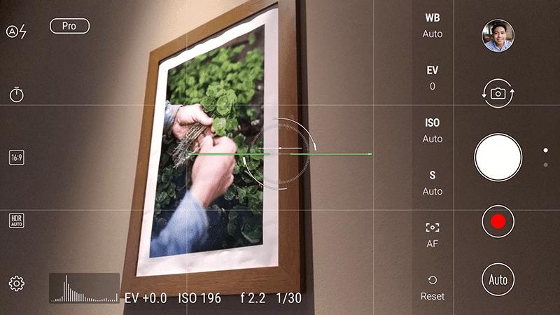 Manual camera interface