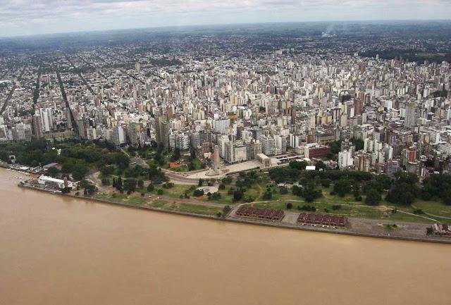 Imagem aérea de Rosário - Argentina