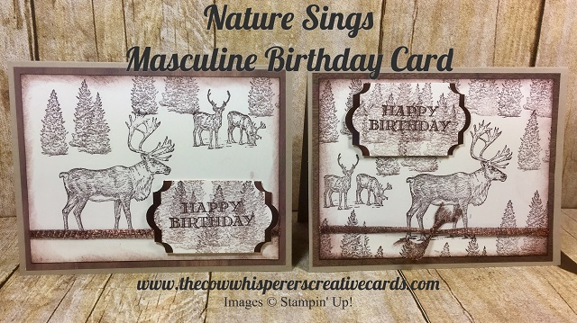 card, masculine, nature sings, birthday