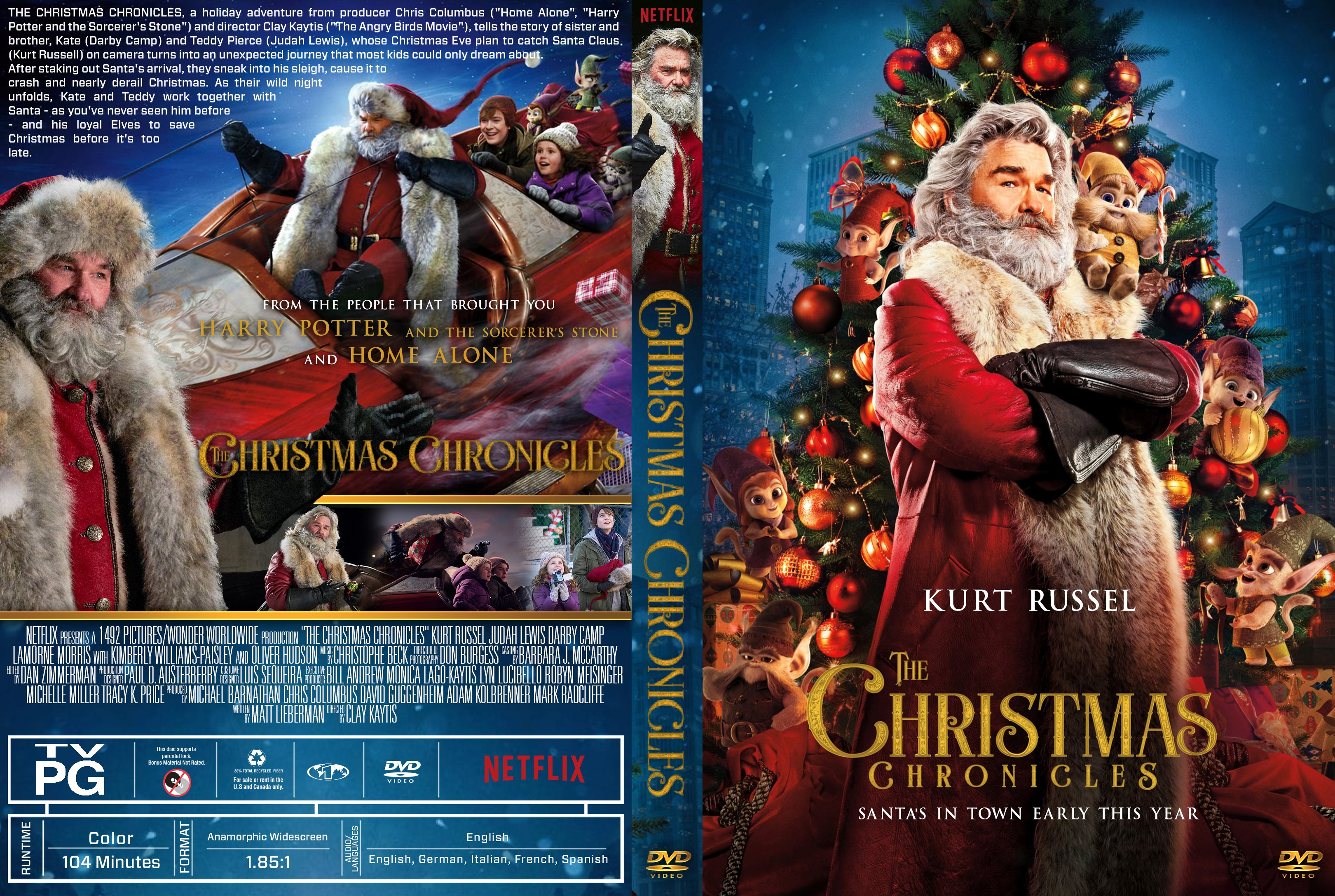 The Christmas Chronicles 2018 Dvd Cover.The Christmas Chronicles Dvd Cover Cover Addict Free Dvd