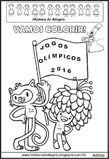 Atividade jogos olímpicos para colorir