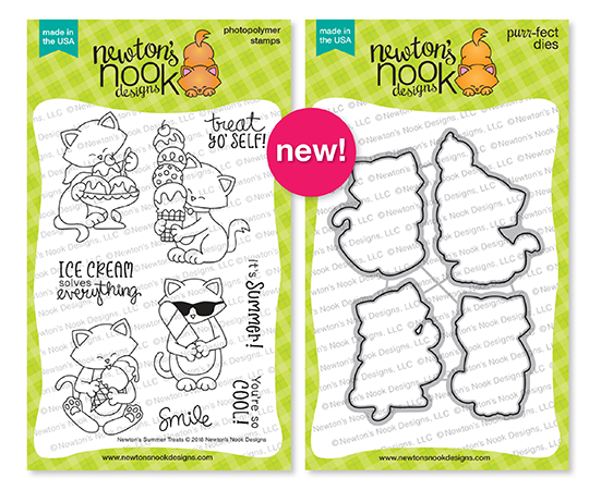Newton's Summer Treats Stamp and Die Sets by Newton's Nook Designs #newtonsnook