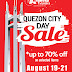 Sale Alert : #AranetaCenter Malls to hold QC Day Sale on Aug 19-21