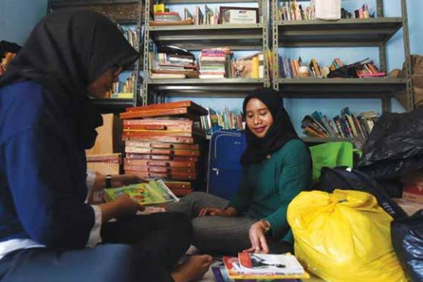 perpustakaan komunitas jendela