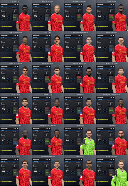 PES 2017 Liverpool Facepack 1.0